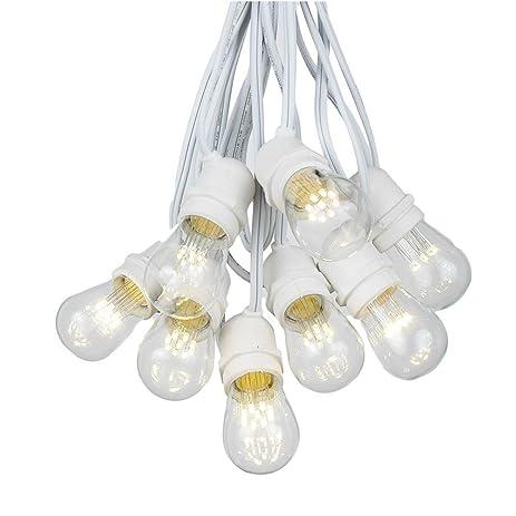 Amazon.com : 37.5 Foot S14 LED Edison Outdoor String Lights ...