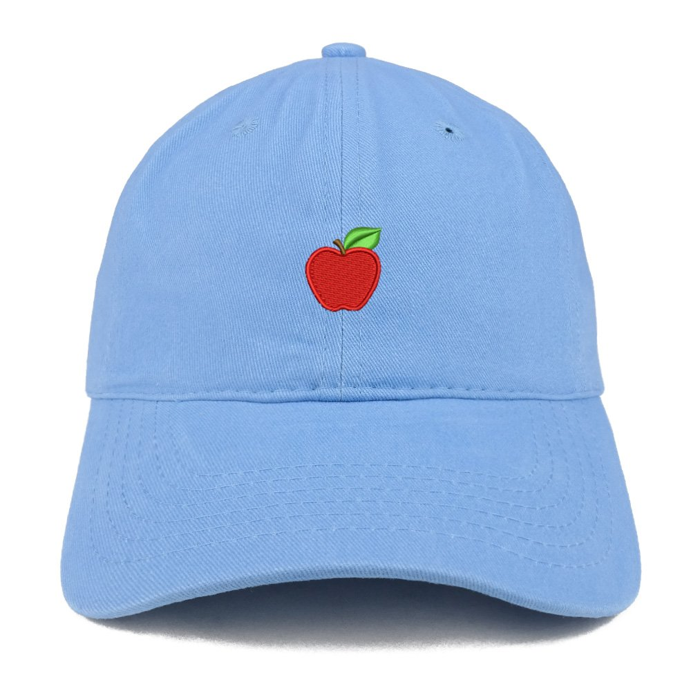 Trendy Apparel Shop Small Apple Embroidered Low Profile Soft Cotton Baseball  Cap - Carolina Blue at Amazon Men s Clothing store  5a8f5276627