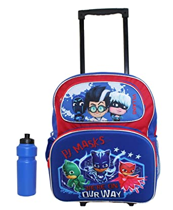 NEW PJ MASKS 3D Rolling Backpack Catboy, Owlette and Gekko
