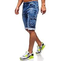 BOLF Hombre Pantalón Corto Pantalones Vaqueros Denim Regular