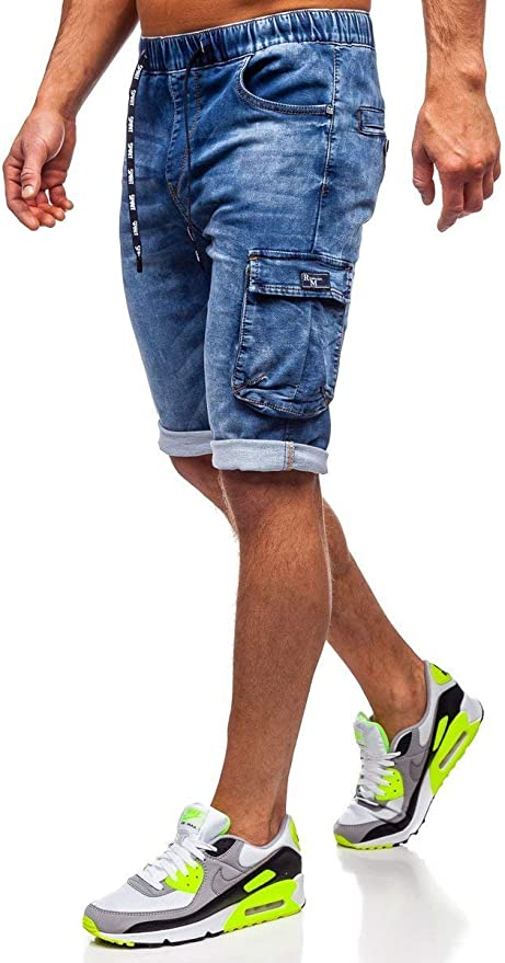 BOLF Hombre Pantalón Corto Pantalones Vaqueros Denim Regular Pantalón de Algodón Pantalón Deportivo Estilo Casual 7G7: Amazon.es: Ropa y accesorios