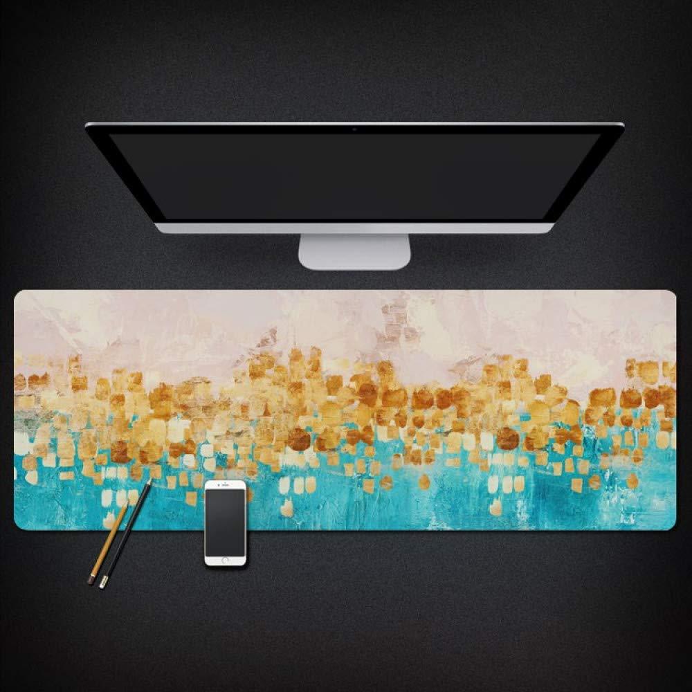 Tzsysb Patrón de color Alfombrilla de ratón juego alfombrilla alfombrilla juego de ratón de la oficina a prueba de agua costura cojín de ratón de gran tamaño teclado de la computadora alfombra antideslizante,100cm×50cm× bd63b7