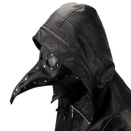 Steampunk Peste Doctor Pájaro Máscara Nariz Larga Pico Cosplay Punk Halloween Traje De Atrezzo Fantasma De