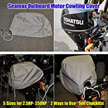 Seamax Outboard Motor Engine Cowling Cover with 5 Sizes and Checklist Enclosure