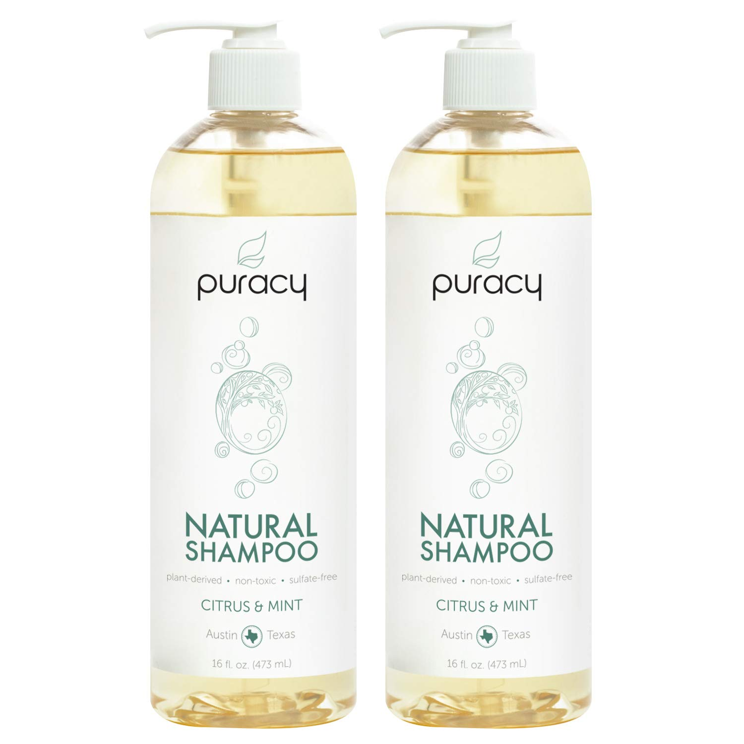 Puracy Natural Daily Shampoo, New Sulfate-Free Formula, All Hair Types