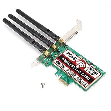 Tarjeta de Red de 450Mbps 2.4G / 5G con 3 Antenas externas ...