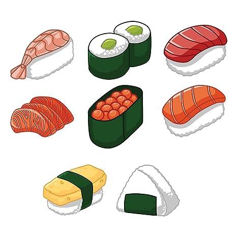 : Kawaii Sushi Decal Set Indoor and Outdoor use