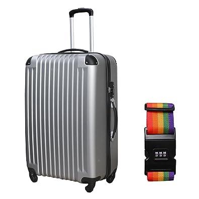 3070bf9954 Amazon | DABADA(ダバダ) スーツケース ベルト付 キャリーケース 機内 ...
