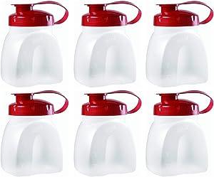 Rubbermaid MixerMate Servin' Saver 1 Pint Bottles, Pack of 6 Bottles