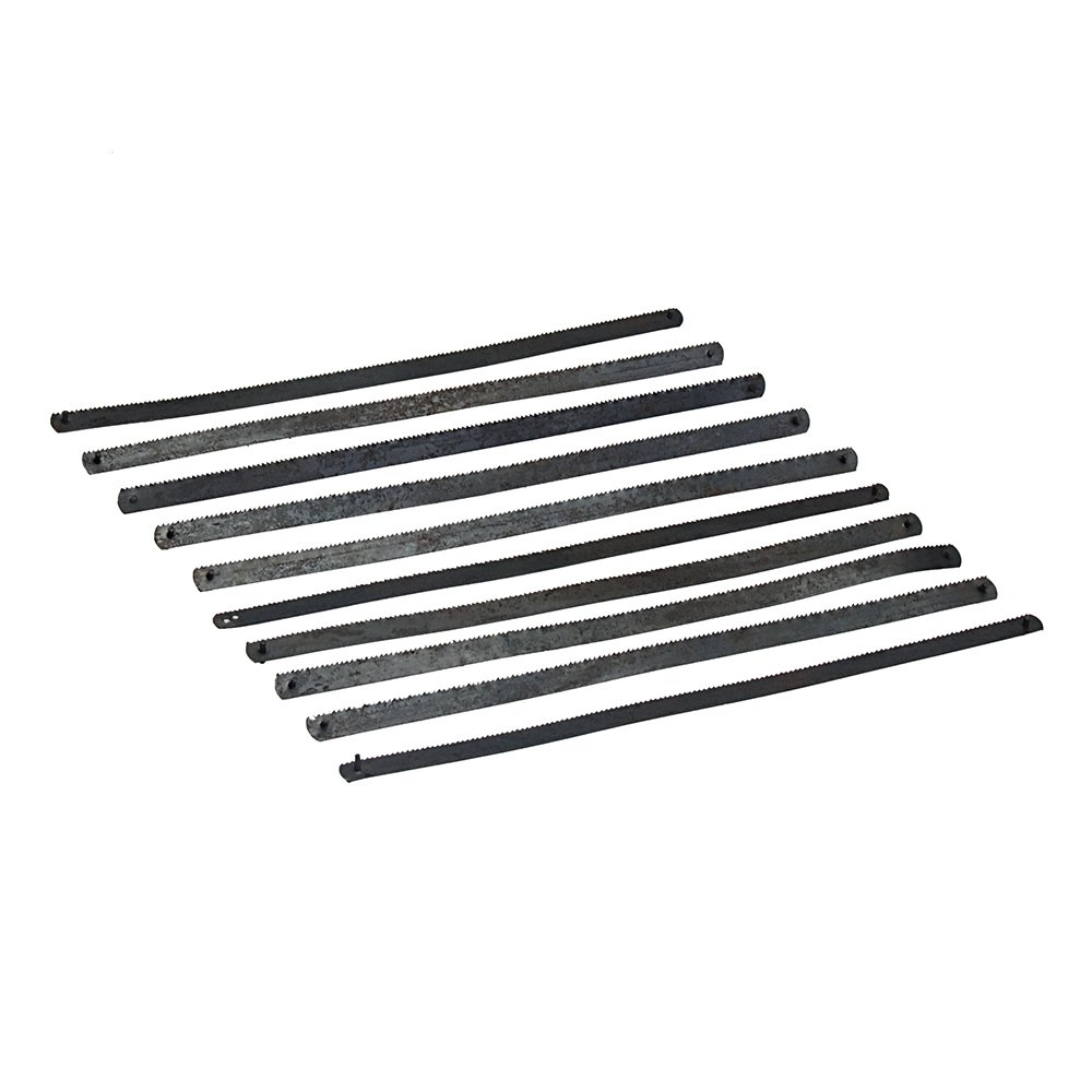 Silverline SW37 - Cuchillas pequeñas para arco de sierra, 10 pzas (150 mm)