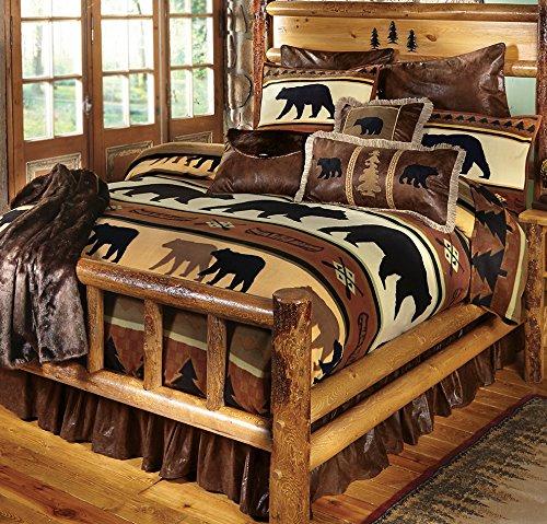 Black Forest Décor Black Bear River Plush Blanket - Queen