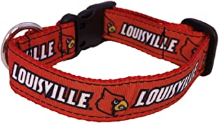 product image for NCAA Louisville Cardinals Dog Collar, Team Color, Small