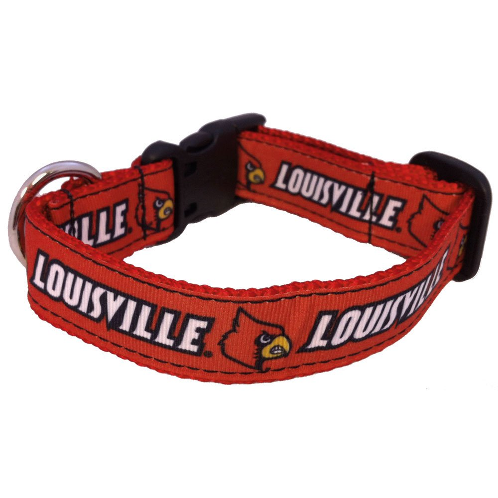 Medium Team Color NCAA Louisville Cardinals Dog Collar