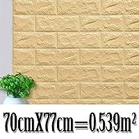 70 * 77Cm Baksteen Muurstickers DIY 3D Pe Foam Behang Panelen Kamer Decal Stone Decoratie reliëf Zelf Adhensive 3D…