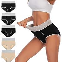 YaShaer Bragas de cintura alta para mujer, ropa interior de algodón suave, elástico, calzoncillos de cobertura completa…