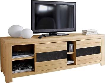 Mobile Tv Ante Scorrevoli.Destock Meubles Mobile Tv Ante Scorrevole Rovere Naturale Ceramica