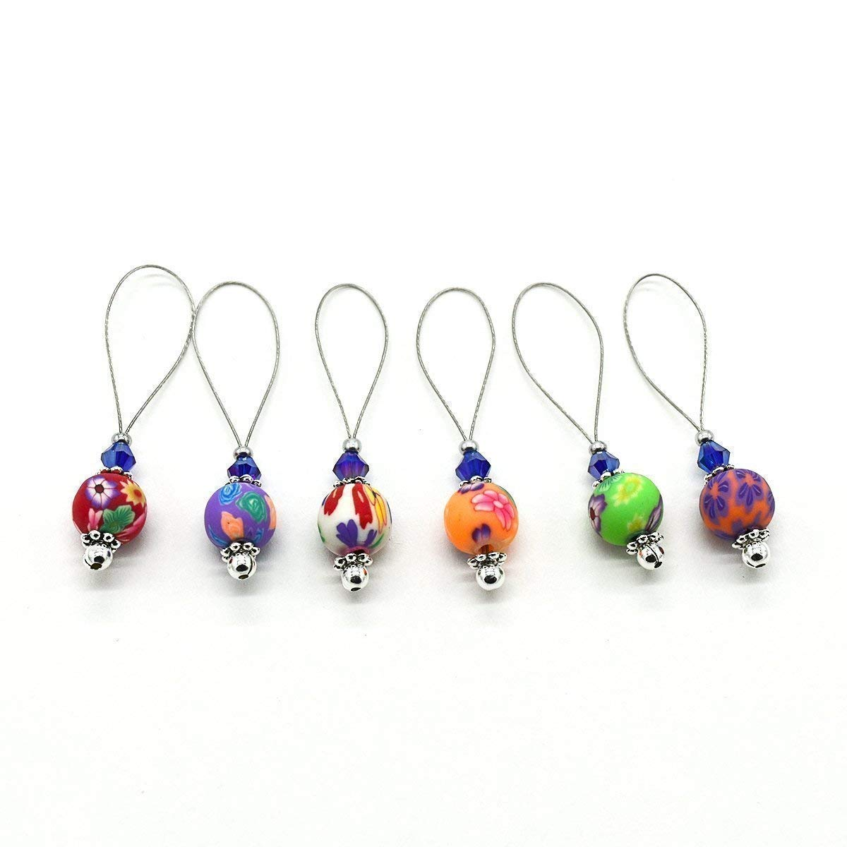 KNITTING STITCH MARKERS HANDMADE BEADED  #075