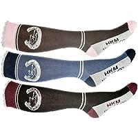 Hkm Mujer–Calcetines de equitación Horse Love Calcetines