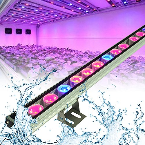 MoKasi® LED Plant Fast Growth Grow Light Growing Hanging light Bulb Fixtures for Garden Greenhouse, Hydroponics, Indoor Cultivation (2pcs LED strip 81W(27*3W))