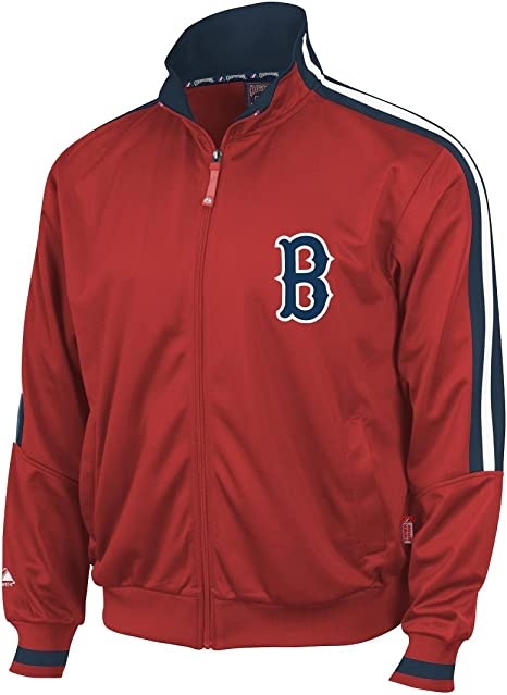 Boston Red Sox Majestic Red Cooperstown Therma Base Track Jacket ...