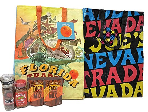 Trader Joe's East Meets West African Smoke, Chili Lime, Taco Tote Best Gift Set 6 Piece Bundle