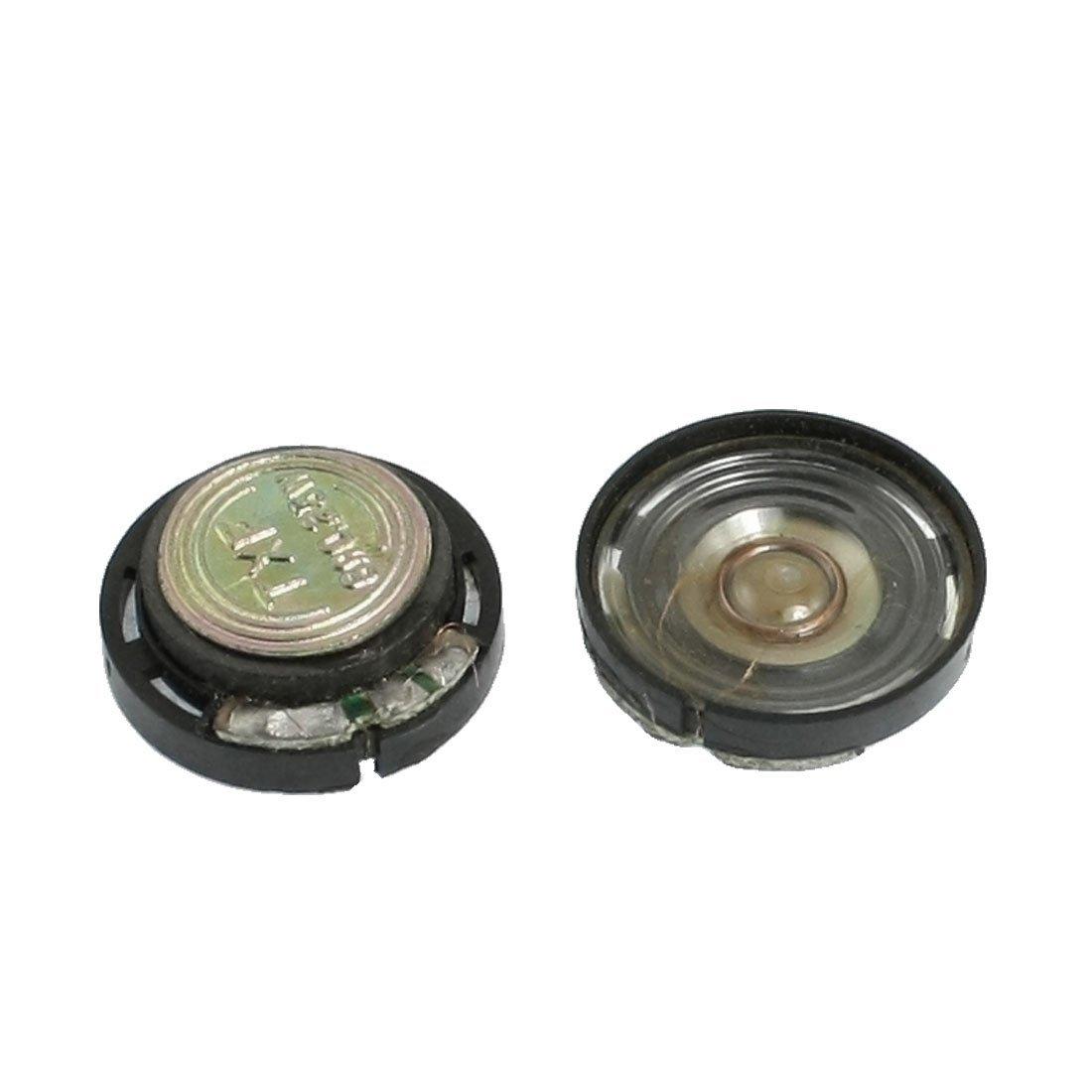 TOOGOO(R) 20mm External Magnetic Type Round Slim Plastic Shell Speaker 8 Ohm 0.25W 2 Pcs