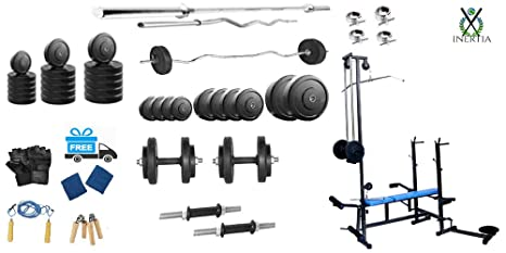 Inertia Home Gym 50 Kg Pack Diet Chart 20 In 1 Bench Workout Cd