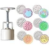 50g 6 Styles Round Flower Pattern ice Moon Cake Mooncake Decoration Mold Mould DIY Tools