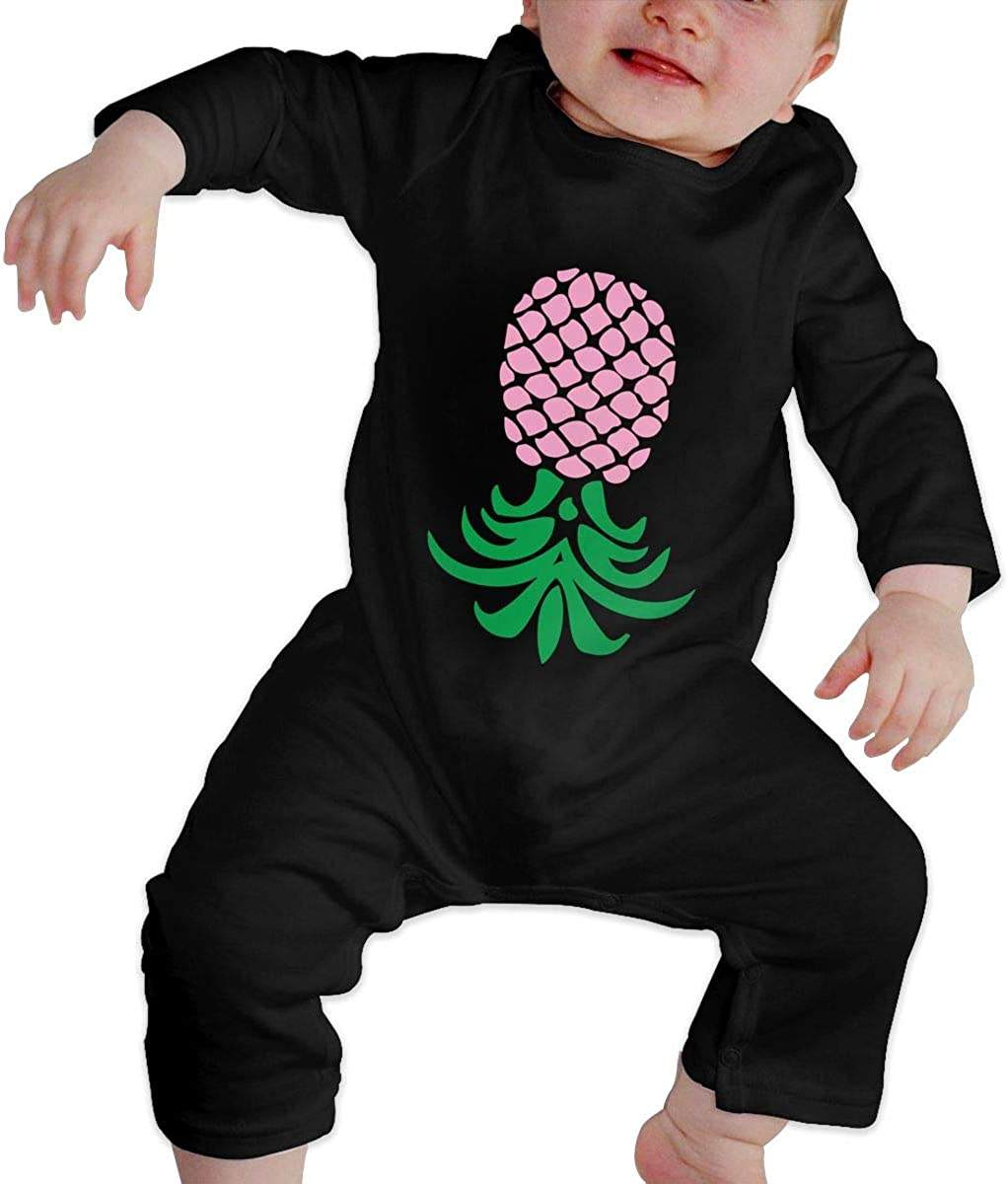 Upside Down Pineapple Organic One-Piece Bodysuits Coverall Outfits BKNGDG8Q Toddler Baby Boy Romper Jumpsuit