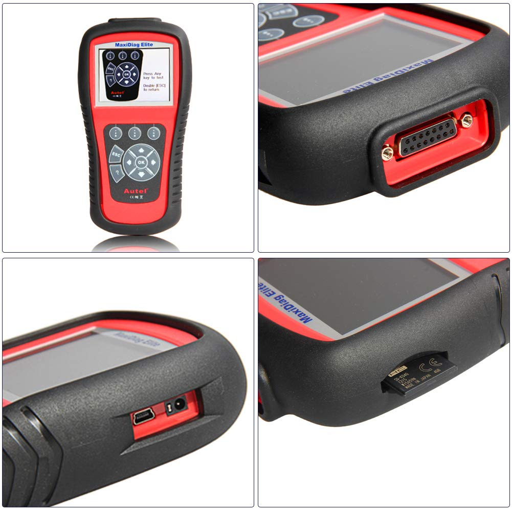 Autel Professional Scan Tool MaxiDiag Elite MD802, OBD2 Car Code Reader for All Systems, Car Diagnostic Scanner for All Electronic Modules (Engine, Transmission, ABS, Airbag), EPB, Oil Service by Autel (Image #8)
