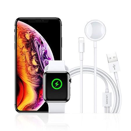 NACEO Cargador Inalámbrico 2 En 1 para iPhone/Iwatch, Cable ...