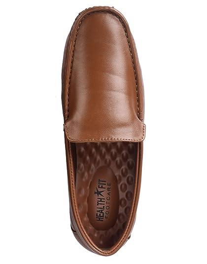 a0dd4a67e1 Healthfit Health FIT Stylish Men's PU Diabetic & Orthopedic Shoes (Tan ...