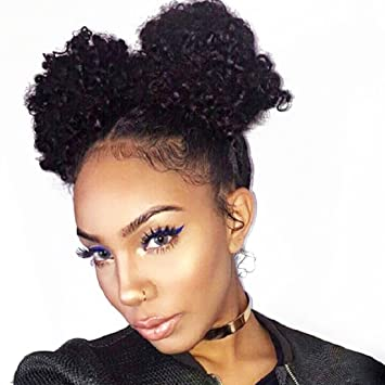 Amazon Com Sunber Drawstring Ponytail Afro Puff Synthetic Hair