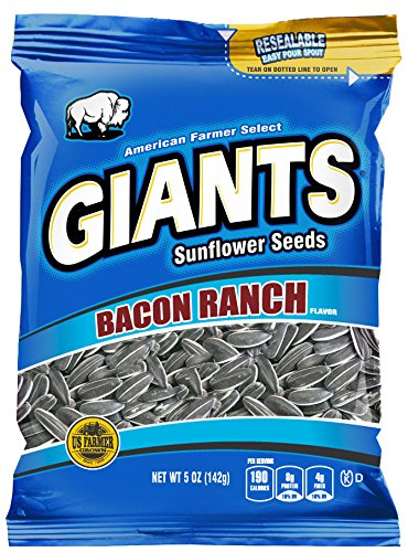 (Bacon Ranch Flavored GIANTS Sunflower Seeds, 12-5 oz)