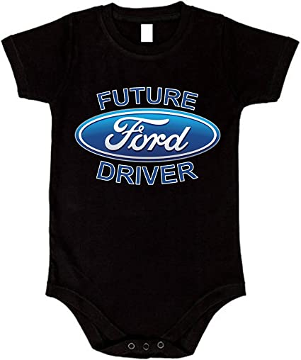 Childs Tee Shirt Future FORD Driver on cotton Kids T Shirt