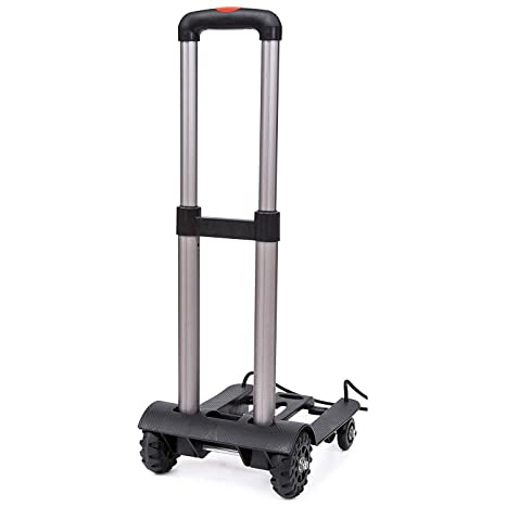 Carrito portátil plegable Carrito de viaje Carrito de equipaje ajustable para el hogar Carrito Carrito de