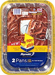 Reynolds Bakeware Pans with Lids (Non-Stick, 13x9 inch, 2 Count)