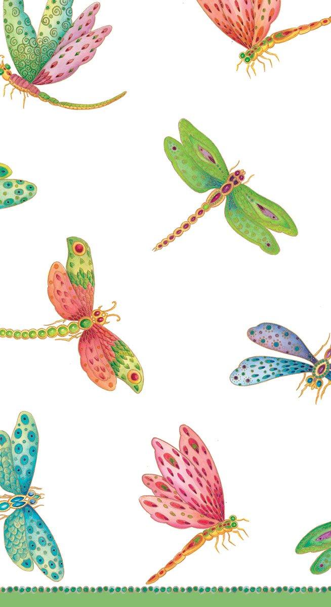 Caspari - Asciugamano per ospiti in carta con libellule, 15 pezzi Caspari Inc. 9860G