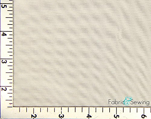 Cream, Beige Small Hole Net Netting Fabric 2 Way Stretch Nylon 58-60