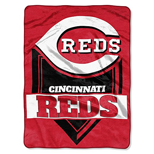 The Northwest Company MLB Cincinnati Reds Royal Plush Raschel Throw, One Size, Multicolor Cincinnati Reds Comfy Throw