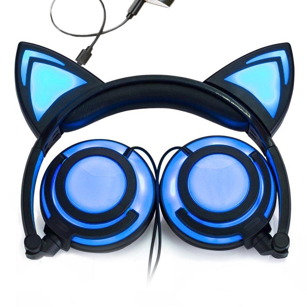 USB Ladegerät Faltbar Katze Ohr Draht Verstellbar hearsets Kopfhörer ...