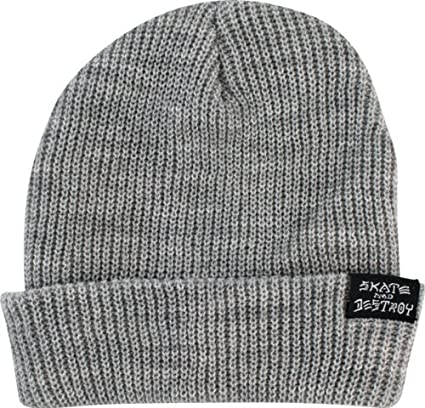 fe57e5bc615 Image Unavailable. Image not available for. Color  Thrasher Magazine  Skategoat Skate and Destroy Grey Beanie Hat
