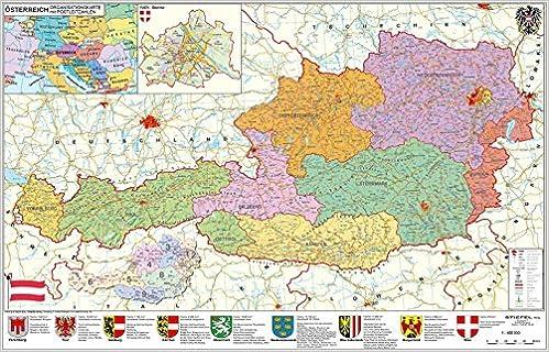 karte von österreich Österreich politisch   PLZ  und Organisationskarte   Wandkarte