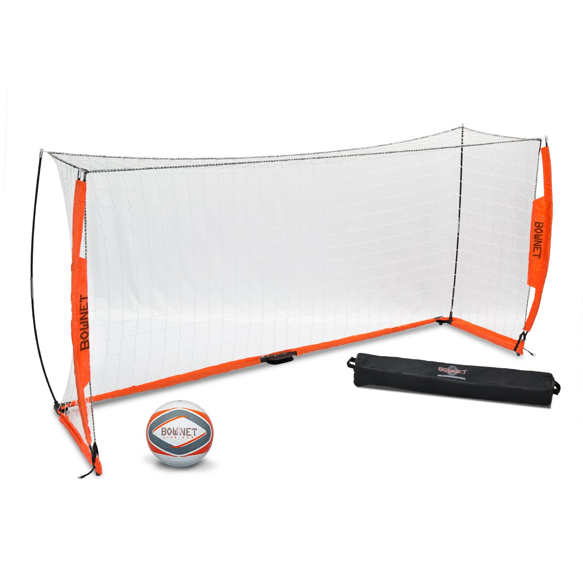 BUNDLE PACK - Bownet 5' x 10' Soccer Goal with Lite Soccer Ball, Size 5