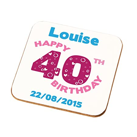 Wifes Mums Aunties Sisters Personalised 40th Birthday Gift Ladies Coaster Add Any