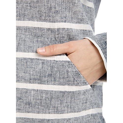 oodji Collection Mujer Blusa de Lino con Capucha