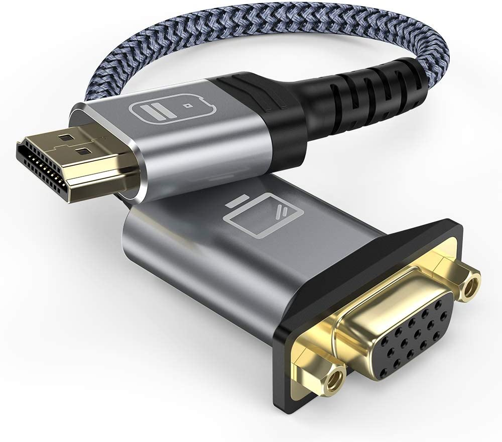 HDMI to VGA,Oldboytech HDMI to VGA Adapter (Male to Female) Support 1080P Compatible for Laptop, for PC, for Projector, for HDTV, for Monitor, for Chromebook, for Raspberry Pi, for Roku and More