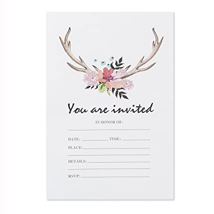 amazon com 30 pack floral invitations with envelopes wedding
