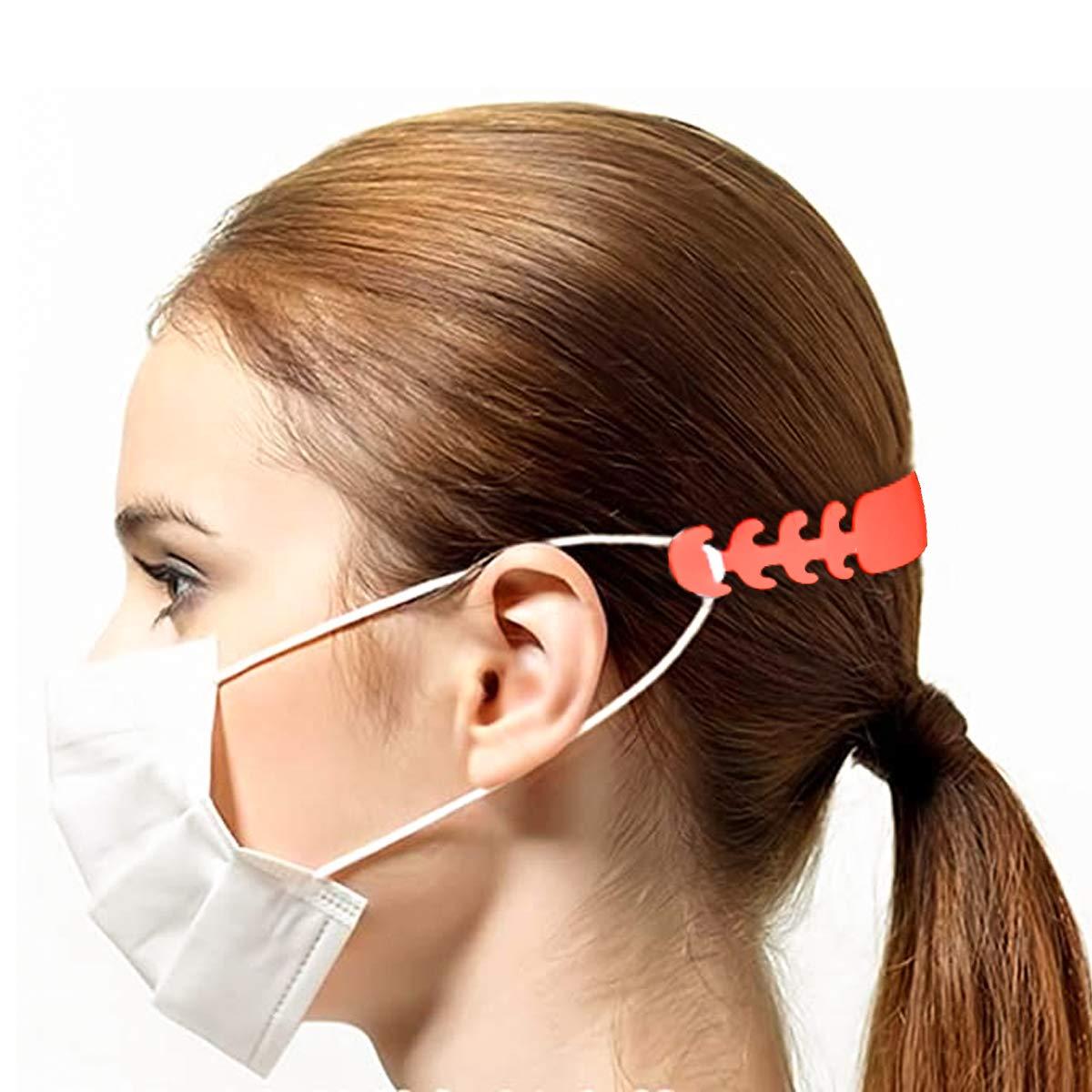 6 Piezas Gancho de extensión para Mascarillas Prevenir el Dolor de Oído, Extensor de Correa de Máscara Hebilla de Extensión de Máscara Ajustable Gancho De Extensión