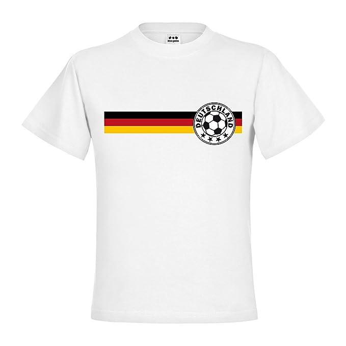 Dress de puntos Kids Niños Camiseta de fútbol Logo con 4 estrellas en Alemania Bandera Negro